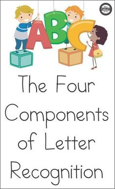 Learning the letters of the alphabet is not as simple as one may think. When children are starting to learn their letters, it is important to know that there are four components of preschool letter recognition. Preschool Letters, Preschool Learning Activities, Preschool Curriculum, Preschool Lessons, Toddler Learning, Homeschooling, Teaching Resources, Preschool Journals, Abc Learning