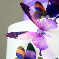 Sada 18 adhezivních 3D samolepek Butterflies Purple | Bonami