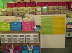 An organized classroom. I saw some new ideas here. Need to revisit in the summer.