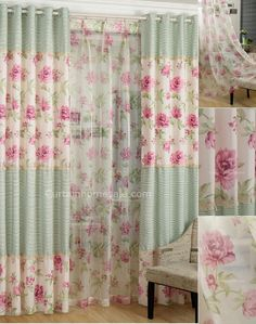 Beautiful Pastoral Printed Floral Poly/Cotton Fabric Kids Curtain For Girls' Room Shabby Chic Shower Curtain, Shabby Chic Curtains, Floral Curtains, Shabby Chic Vintage, Shabby Chic Homes, Shabby Chic Decor, Girls Room Curtains, Home Curtains, Digital Print Textiles