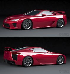Lexus LFA...V10 engine...carbon fiber body. Production ended in December 2012 with 500 vehicles completed.