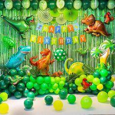 Party Kulissen, Party Favors, Elmo Party, Mickey Party, Happy Birthday Girlande, Dinosaur Balloons, Dinosaur Dinosaur, Dinosaur Party Supplies, Dinosaur Birthday Cakes