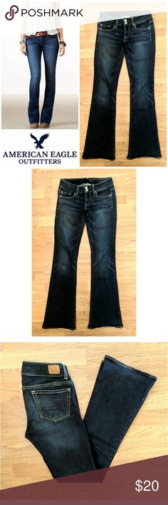 """Artist fit American Eagle Outfitters jeans These gorgeous American Eagle jeans are perfect for dressing on any occasion! Medium indigo cotton blend with 2% spandex for super stretch fit. Artist fit.  Traditional 5 pocket style leather logo tag on back, double button clasp. Size 2 regular, 31.5"""" inseam. Dress up or down with boots and sweaters, sneakers and tees... Possibilities are endless! In EXCELLENT condition. Grab yours for less and look great in American Eagle! American Eagle…"""
