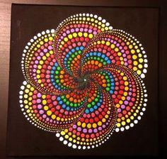 Items similar to Original Mandala Dot painting, hand made by Anna Kep, wall art decor for home. on Etsy Mandala Art, Mandala Rocks, Mandala Painting, Mandala Pattern, Mandala Design, Dot Art Painting, Stone Painting, Art Pierre, Aboriginal Art