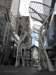 """Trees"" sculptures in downtown Calgary"