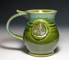 Labyrinth ceramic mug.  This glaze is fantastic!!