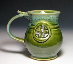 Labyrinth ceramic mug.