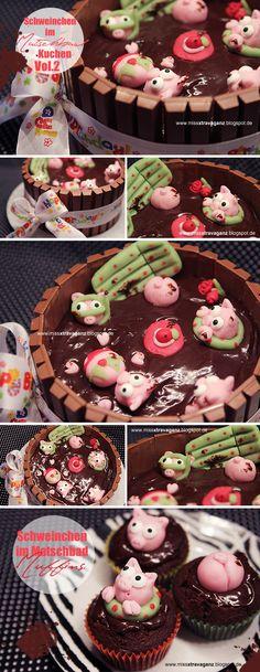 Schweinchen im Matschbad Kuchen Vol. II
