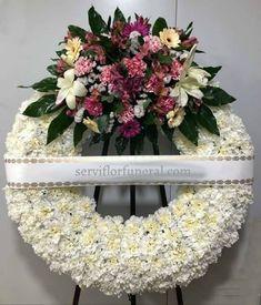 Sympathy Flowers, Flower Designs, Floral Wreath, Wreaths, Decor, Crown Flower, Funeral Arrangements, Funeral Flower Arrangements, Fresh Flowers
