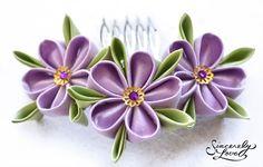 kanzashi violets - Szukaj w Google