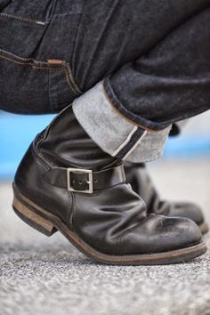 Biker boots and salvage,