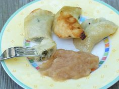 Vegan Pyrohy with Potato Spinach Filling - DF, Egg-free... GF with the right flour blend