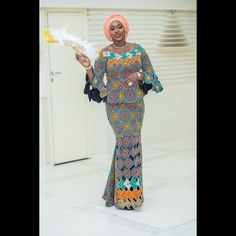 Creative And Stylish Latest Ankara Outfits For Ladies: Ankara Long Gown Designs - Ankara Styles - Ankara Long Gowns Styles African Attire, African Wear, African Fashion Dresses, African Women, African Dress, Fashion Outfits, Eid Outfits, Ankara Fashion, Long Gown Design