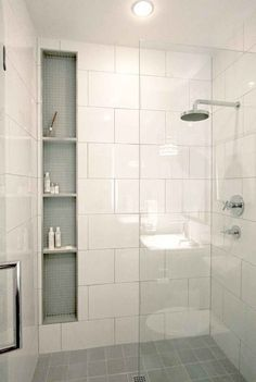 If you are looking for Master Bathroom Shower Remodel Ideas, You come to the right place. Below are the Master Bathroom Shower Remodel Ideas. Small Bathroom With Shower, Shower Niche, Modern Bathroom, Small Bathrooms, Minimal Bathroom, Marble Bathrooms, Master Bathrooms, Shower Floor, Dream Bathrooms