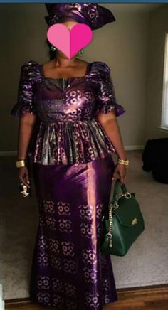African Maxi Dresses, African Dresses For Women, African Attire, African Women, Lace Skirt And Blouse, Long Skirt And Top, African Print Dress Designs, African Traditional Dresses, Style