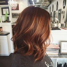 Auburn Balayage Hair Color