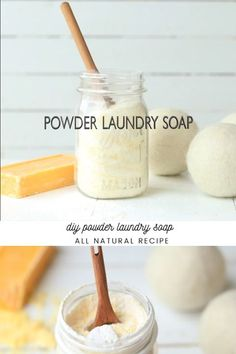 Homemade Powder Laundry Soap is part of Diy laundry detergent - Making your own laundry soap is a great way to save money and make the switch to natural products Homemade powder laundry soap only requires 3 ingredients! Natural Laundry Detergent, Powder Laundry Detergent, Laundry Powder, Homemade Laundry Detergent, Powder Soap, Laundry Room, Eco Friendly Laundry Detergent, Diy Cleaners, Cleaners Homemade
