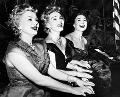 Zsa Zsa Gabor and sisters Eva and Magda - New Years Day publicity shot - January 1, 1954
