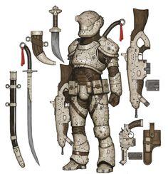 Sci-Fi Warrior, Ariel Perez on ArtStation at https://www.artstation.com/artwork/L8n9v?utm_campaign=digest&utm_medium=email&utm_source=email_digest_mailer