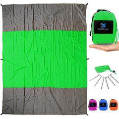 sand proof beach blanket xl lightweight u0026 durable 100 nylon 4 sand pockets valuables zipper pocket 210t ripstu2026
