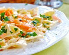 Pâtes au saumon fumé (facile, rapide) - Une recette CuisineAZ