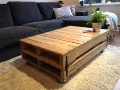 Easy And Creative Living Room Furniture Decor Untreated Pallet Table Black Fabric Sectional Sofas On White Fur Rug For Rustic Design Ideas As Well As Room Table And Coffee And End Table Sets of Cheap And Contemporary Living Room Table Designs from Interior Ideas #fabricdesignideas #palletfurniturelivingroom