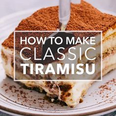 How to make Classic Tiramisu step-by-step Made with whipped egg yolks sugar rum mascarpone and whipped cream layered with coffee-dipped ladyfingers Great make-ahead dessert for Christmas Thanksgiving and holiday parties Make Ahead Desserts, Easy Desserts, Italian Desserts, Italian Food Recipes, Classic Desserts, Italian Cooking, Frozen Desserts, Simply Recipes, Sweet Recipes