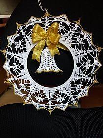Christmas Bells, Diy Christmas Gifts, Christmas Decorations, Xmas, Filet Crochet Charts, Christmas Crochet Patterns, Mandala, Crafty, Holiday