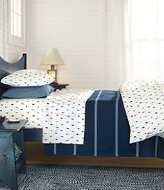 #LLBean: Maine-Made Cotton Blanket, Stripe