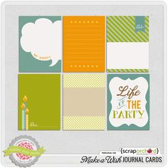 Free Make a Wish Journal Cards from Scrap Orchard {on Facebook}