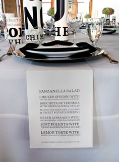 Menu Card...not for my work people, but maybe my own elegant party!