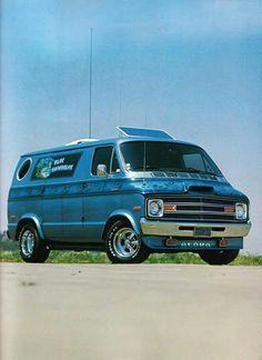 "The ""Blue Hawaiian"" Custom Dodge. Dodge Van, Chevy Van, Customised Vans, Custom Vans, Dodge Trucks, Jeep Truck, Dodge Pickup, Pickup Trucks, Land Rover Defender"