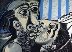 El beso, de Picasso.