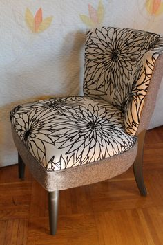 looks a bit easier to reupholster a chair like this; rather than an antique wingback