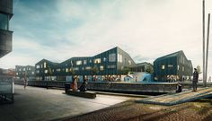 Kullegaard Takes First Place in Holbæk HavneBy Design Competition,Waterfront. Image © Dimension Design, courtesy of Kullegaard Architecture Visualization, 3d Visualization, Facade Architecture, Orlando, Backyard Office, Rooftop Garden, Design Competitions, Facade Design, Design Firms