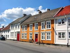 Old houses in Kristiansand city