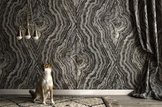 ZAK + FOX // Created in collaboration with NY-based design duo, APPARATUS, Strata Study explores the organically occurring phenomenon of strata, layers of earth or vegetation created in nature. Composed of a texture that lives mysteriously between rock and wood, Strata Study feels both classically inspired and strikingly modern.