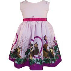 Vestido Infantil Masha e o Urso - Universo 4 Kids