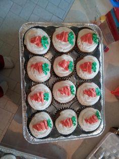 Jumbo carrot cake cupcakes