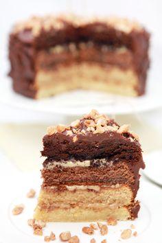 Tort Czekoladowo - Karmelowy Ombre