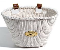 White Bike Basket