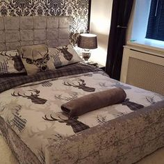 Great prices on your favourite Home brands, and free delivery on eligible orders. Master Bedroom Plans, Bedroom Ideas, Bedroom Decor, Country Bedding, Rustic Bedding, Black Bedspread, Lodge Bedroom, Deer Decor, Cozy Room