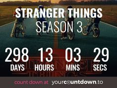 Why do we have to wait so long for stranger things season 3 😩 at least this countdown will help my suffering. Stranger Things Quote, Stranger Things Aesthetic, Stranger Things Season 3, Film Serie, Best Shows Ever, Good To Know, Netflix, Haha, At Least