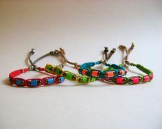 Woven Hemp Cord Friendship Bracelets Set of 4 by KnotSoFancy