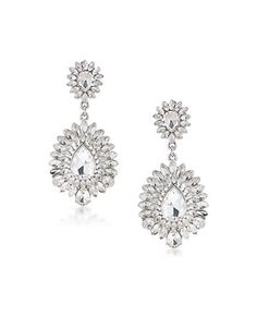 CAROLEE Teardrop Stone Chandelier Earrings