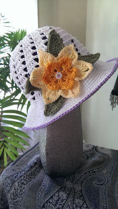 Daffodil Dreams Spring/Summer Sun Bonnet by PrettyCraftyCuties, $23.00
