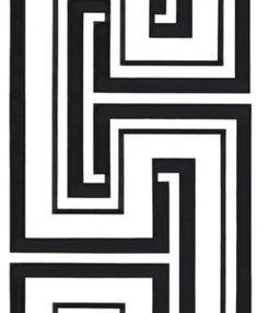 Manhattan comfort Bristol Series Vinyl Geometric Maze Design Large Wallpaper Roll, W x L, Black/White, Damask Wallpaper, Geometric Wallpaper, Vinyl Wallpaper, Wallpaper Roll, Peel And Stick Wallpaper, Pattern Wallpaper, Transitional Wallpaper, Contemporary Wallpaper, Contemporary Design