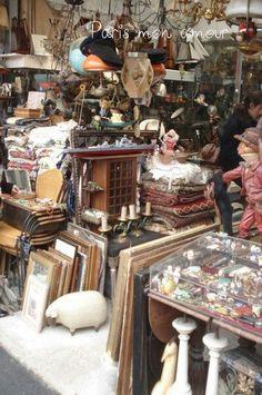 Mercado de pulgas em paris