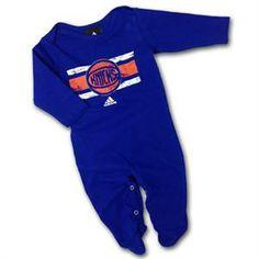 New York Knicks NBA Baby Boys Infants Fleece Coverall Bodysuit Blue
