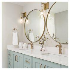 Bad Inspiration, Bathroom Inspiration, Bathroom Ideas, Bathroom Table, Bathroom Sconces, Master Bathroom, Delta Bathroom, Bathroom Sconce Lighting, Upstairs Bathrooms